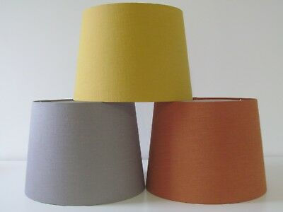 NEW Empire Tapered Burnt Orange Linen Lampshade Lightshade Choice of Colours