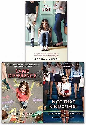 Siobhan Vivian Collection 3 Books Set The List, Same Difference, Not That Kind