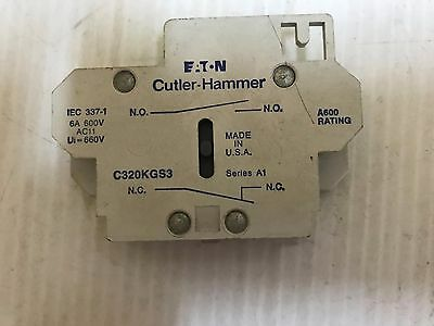 Cutler-Hammer C320Kgs3 Auxiliary Contact