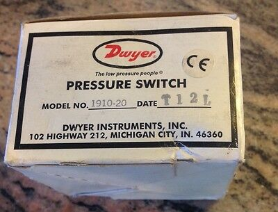 Dwyer 1910-20 Pressure Differential Switch