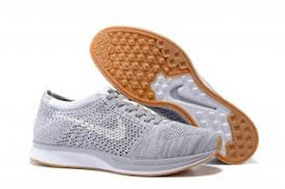 NIKE Flyknit Racer Men's Shoes Running Sports Shoes Grey 526628-062 US 8