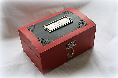 Pet Burial  Memorial Box - Ashes Casket - Keepsake Box & Pet Poem *personalised*