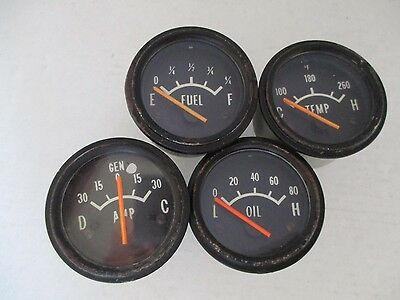 Holden Lc Lj Torana Gtr Oil Fuel Temp Amp Gauges Suit Dash Instrument Cluster