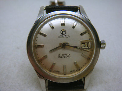 Vintage SWISS made ROAMER 17 Jewels Men's Watch (DAY)