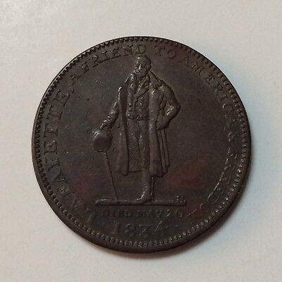 1835 Hard Times Token LAFAYETTE Clark & Anthony PROVIDENCE, RI Watchmakers
