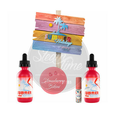 Strawberry Bikini by Dinner Lady Summer Holidays e Liquid 60ml eZigarette eLiqud