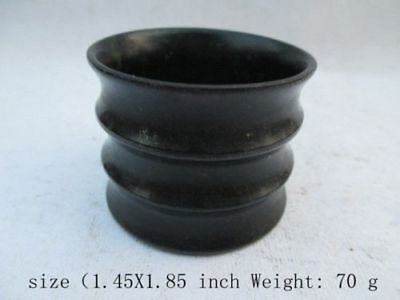 2PCS Exquisite natural hand-carved Chinese Hetian Jade - Jade bowl C