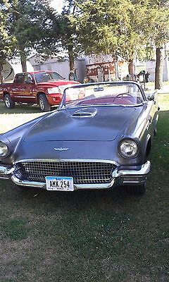1957 Ford Thunderbird  1957 Thunderbird, 312 manual  o/d, all orig., grey with red interior, both tops