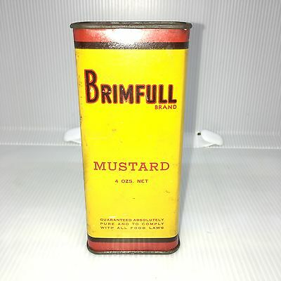 "Brimfull spice tin.4oz.Chicago.Cond.9,5.25'x1""x2.25"".1940-50s.Nice w/min.wear!"