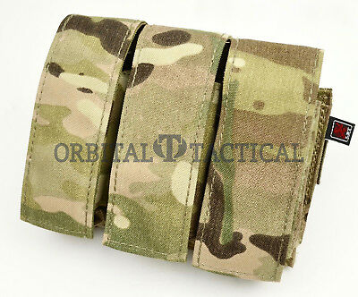 New London Bridge LBT 9033C 40mm 9mm Grenade Pistol Multicam Triple Mag Pouch