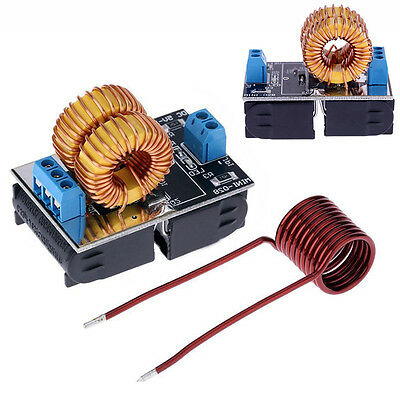120W ZVS Low Voltage Induction Heating Power Supply Module Board + Heater Coil