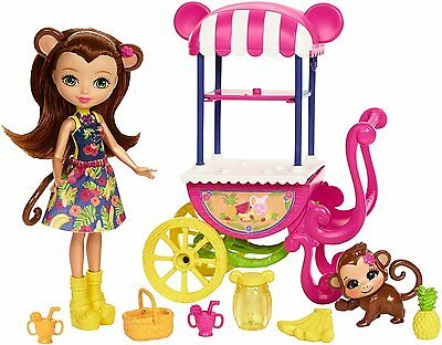 Enchantimals ~ Fruit Cart Playset ~ Inc Merit Monkey Doll & Pet