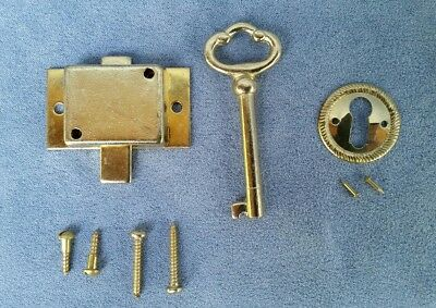 Vintage Style Cabinet/Drawer Lock Flush Mount Lock Right/Left Hand NOS