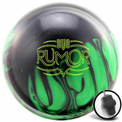 Bowling Ball DV8 Rumor Black Neon Green 12-16 lbs Reactive Strikeball Reaktiv
