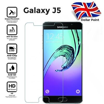 100% Genuine Tempered Glass screen protector For Samsung Galaxy J5