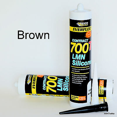 DARK BROWN SILICONE Sealant Mastic External Window Door Frame rubber seal  wood
