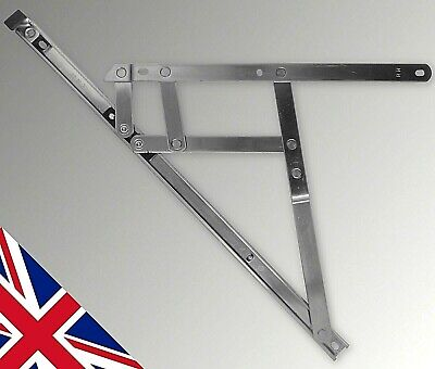 """12"""" 300mm Side Hung 13mm Window Friction Hinges One Pair stays upvc pvc Glazing"""