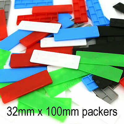 32mm Glazing Packers Floor Glass Shims Window Spacers Flat Plastic Frame uPVC
