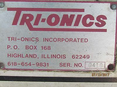 Trionics vertical milling machine  untested, must be able to pick up and load