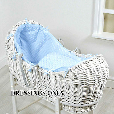 New 4Baby Blue Dimple Snooze Pod Basket Dressings Extra Basket Cover