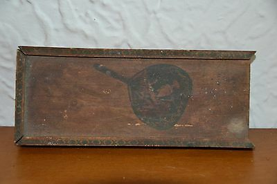 1800's Wooden Paint Tray w/Slide out Lid and Original Paint Squares Still Inside