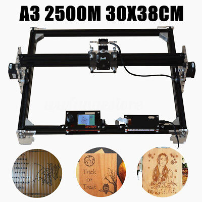 AU A3 2500MW 30x38cm DIY Laser Engraving Cutting Engraver Cutter Printer Machine