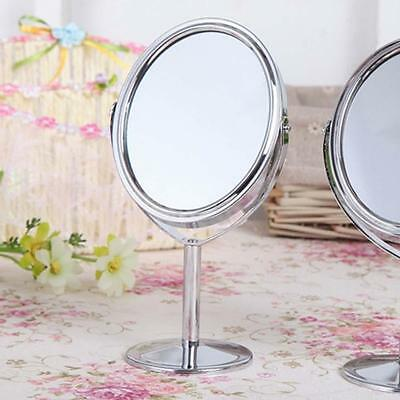 Maquillage Mirror Lady femmes Cosmetic Outil double face Grossissement Argent HA