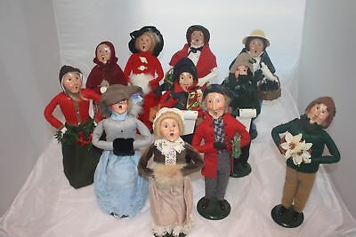 "Vintage Lot of 11 Byers Choice Carolers ""THE CAROLERS"" 13 inches tall"