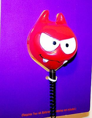 1989 HALLOWEEN New/Tag Hallmark BOO JR LIGHT UP BATON Rare DEVIL Head on Spring