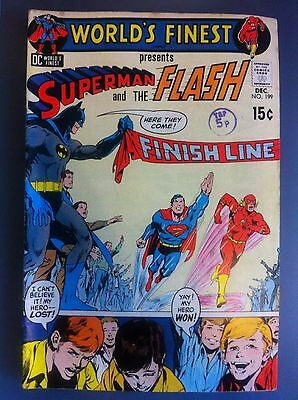 World's Finest No. 199 Vintage DC Comics Superman and The Flash FN