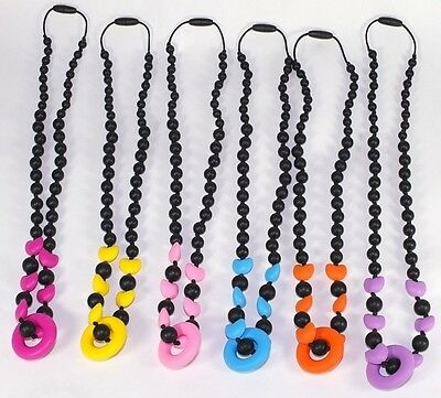 Teething Necklace Nursing Breastfeeding chew chewable jewelry beads Babies New