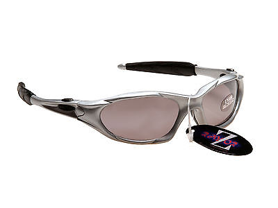 RayZor Uv400 478 Silver Framed Smoked Mirrored Lens Golf Sunglasses RRP£49