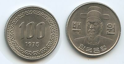 G13804 - Südkorea 100 Won 1975 KM#9 XF Condition Korea South