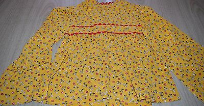 "Vintage 1970's Sears ""Growing Girl"" girl's ""hippie"" shirt, pretty yellow floral"