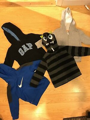 Lot Of 4 Toddler Boys Hoodies-size 2T-Gap, Nike And More!