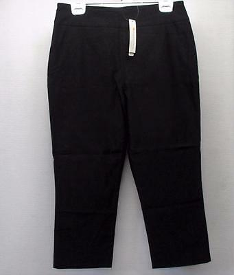 New Ladies Size 12 Spanner Inspired Style Black Pull on ankle pants