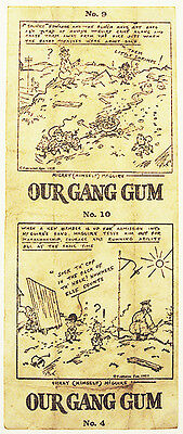 1920's Our Gang Gum Comic Insert American Chicle Gum Company