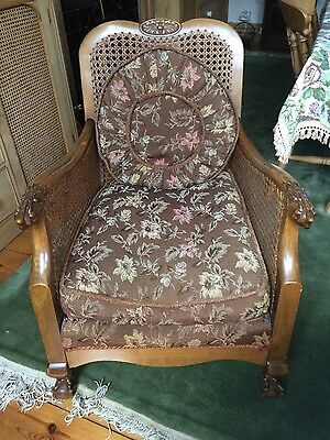Bergere petite 3 piece suite. Very attractive. Walnut.  Claw and ball