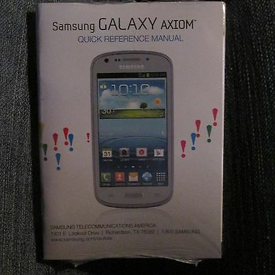 Samsung Galaxy Axiom, Cell Phone, Quick Reference Manual~NEW