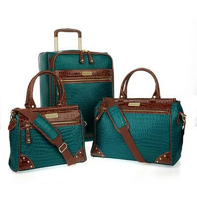 Samantha Brown 3-piece Classic Luggage Set-SEAGRASS-NWT