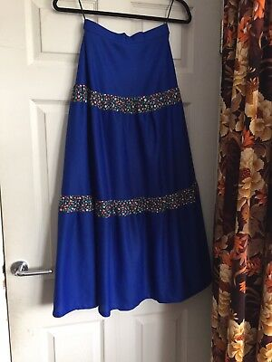 Vintage Girls C And A Boho Maxi 70s 1970s Skirt Gypsy