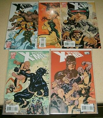 YOUNG X-MEN #1 2 3 4 5  lot NM Marvel Comics GUGGENHEIM Paquette NM