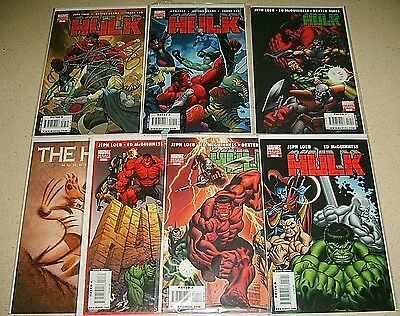 Hulk Variant Near Mint Lot 7 9 10 3X11 12 Wolverine Loeb McGuiness Marvel RED