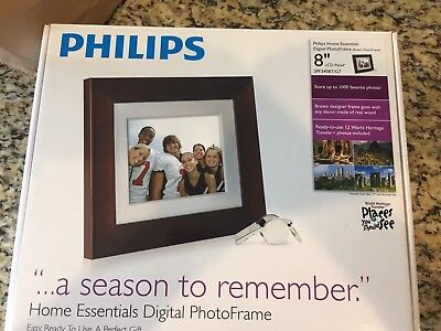 "Philips Home Essentials LCD Digital PhotoFrame 8"" SPF3480T/G7 / Brand NEW in Box"