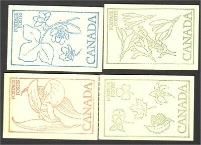 Canada 1977etc group of 4 50c booklets