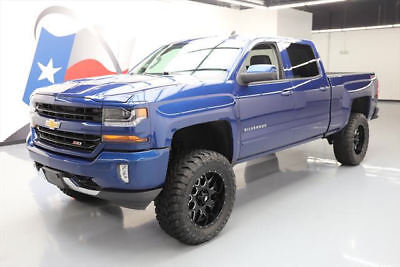 2016 Chevrolet Silverado 1500 LT Crew Cab Pickup 4-Door 2016 CHEVY SILVERADO 1500 LT CREW Z71 4X4 LIFT 20'S 16K #209968 Texas Direct