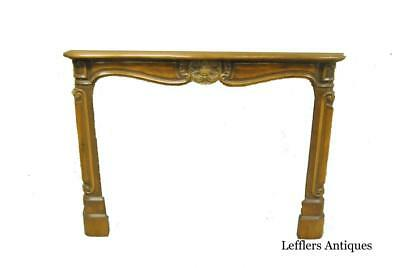 """French Hand Carved Fireplace Mantel 54"""" Opening"""