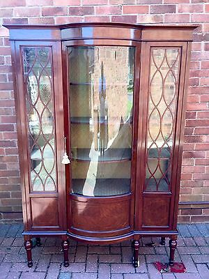 Antique Victorian Mahogany Glazed Display Cabinet