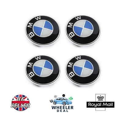 BMW Alloy Wheel Centre Caps 68mm x4 Fits Most BMW Vehicles