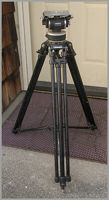 Miller-Compact II Tripod Legs with Miller Fluid Head Showing a lot of Character